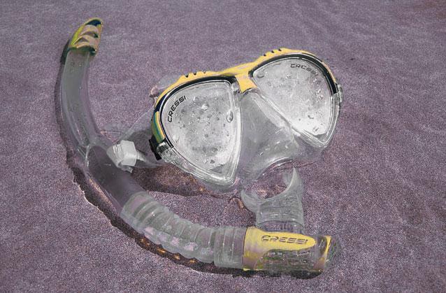 gafas de bucear empañadas con vaho