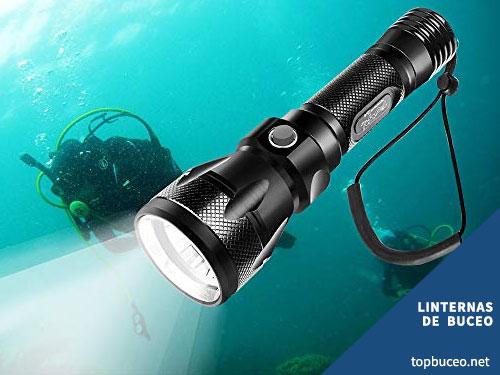 linterna buceo submarina