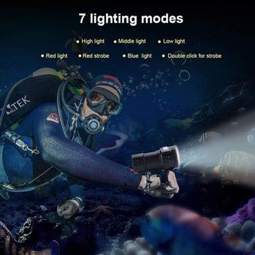 linterna submarina zerodis 18000