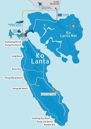 mapa koh lanta tailandia