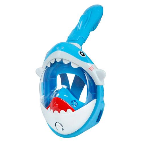 mascara de snorkel de tiburon para niños