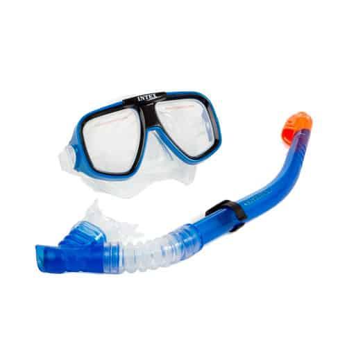 mascara de snorkel y tubo Intex