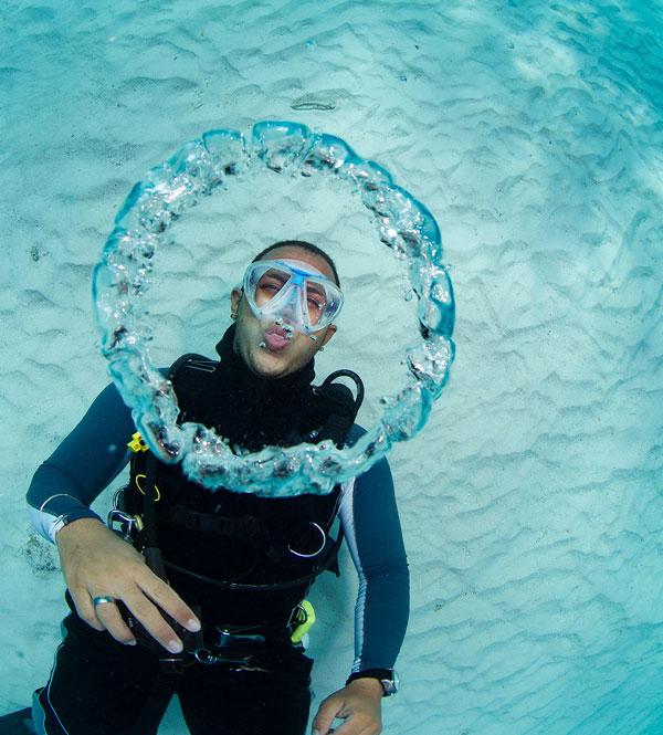 buceador burbuja