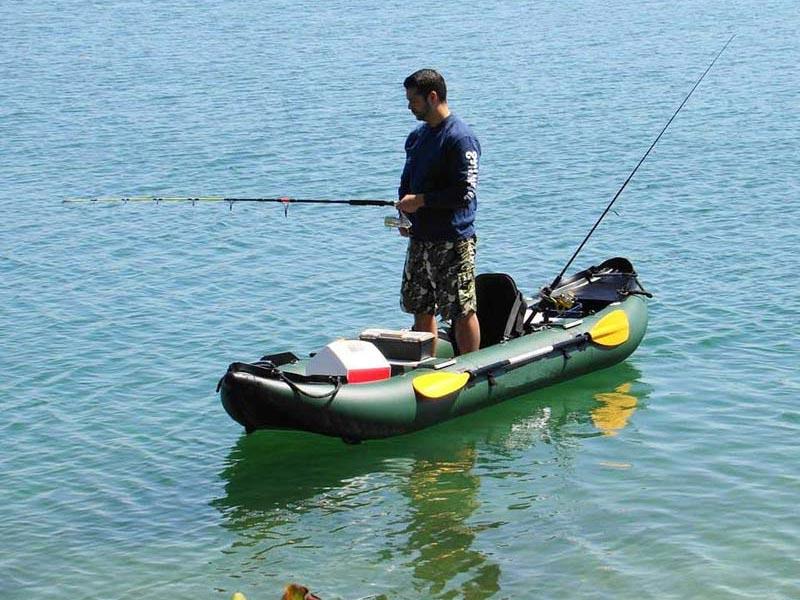 pesca de kayak inflable
